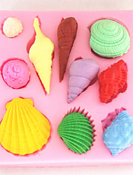 Shell Conch Baking Fondant Cake Choclate Candy Mold,L8cm*W7.2cm*H1.3cm