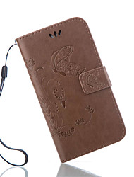 economico -Custodia Per Samsung Galaxy Samsung Galaxy Custodia A portafoglio / Porta-carte di credito / Con supporto Integrale Farfalla pelle sintetica per S7 Active / S7 plus / S7 edge plus