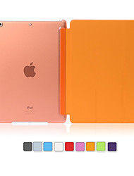cheap -PU Leather Cover Hard Translucent  Wake Up Smart Case for iPad Air