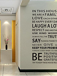 cheap -Decorative Wall Stickers - Words & Quotes Wall Stickers Words & Quotes Living Room / Bedroom / Dining Room / Removable