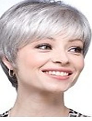 cheap -new arrival fashion grey white wig short straight woman s synthetic wigs hair wig full wig for daily