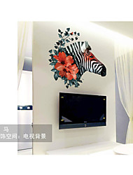 SK7003 Free Shipping Sebra Wall Stickers Home Decor Art Decals for Living Room Bedroom Hallway Decoration Removable