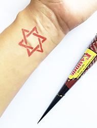 o dia das bruxas naturais à base de plantas Caxemira henna cones kit tatuagem temporária mehndi kaveri (vermelho)
