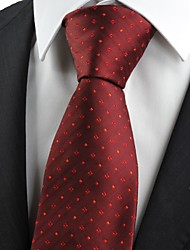 Red Checked Scarlet Burgundy Pattern Classic Men' Tie Necktie Wedding Gift KT0025