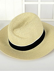 cheap -Unisex Vintage Cute Party Work Straw Hat - Solid Colored