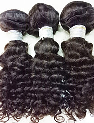"3Pcs/Lot 150g 8-24"" Brazilian Virgin Hair Natural Black Hair Unprocessed Human Hair Weaves Bundles"