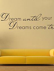 Wall Stickers Wall Decals Style Dream English Words & Quotes PVC Wall Stickers