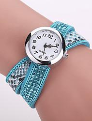 Xu™ Dámské Náramkové hodinky Módní hodinky Křemenný PU Kapela Černá Bílá Modrá Červená Hnědá Fialová