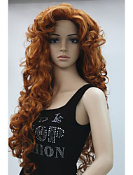 cheap -New Fashion Hair Women's Cosplay Party Wig Copper Red Long Curly Bangs Full Wig