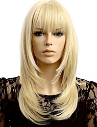 cheap -Synthetic Wig Women's Blonde Carnival Wig Halloween Wig Costume Wig Medium