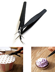 Anti-static Elbow and Straight Stainless Steel Tweezers Cake Decorating Tool,Set of 2