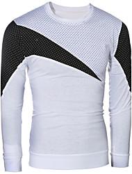 abordables -Tee-shirt Homme, Couleur Pleine Points Ronds - Style moderne Stylé Couleur mixte Bohème Col Arrondi