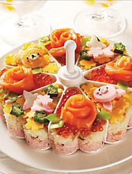cheap -DIY Kitchen Tool Cake Shape Rice Ball Maker Sushi Mold Rice Ball Mould