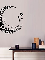 cheap -Decorative Wall Stickers - Words & Quotes Wall Stickers Animals People Still Life Romance Fashion Shapes Vintage Holiday Cartoon Leisure
