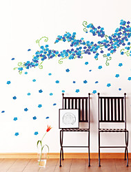 cheap -Wall Stickers Wall Decals Style Large Size Blue Plum Blossom PVC Wall Stickers