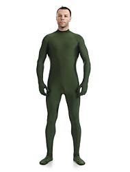 cheap -Zentai Suits Ninja Zentai Cosplay Costumes Dark Green Solid Colored Leotard / Onesie Catsuit Zentai Spandex Lycra Men's Women's Halloween