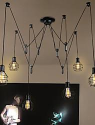 6 Lights Country Designers  Metal Pendant Lights Living Room / Bedroom / Dining Room / Kitchen / Study Room/Office