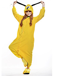 cheap -Kigurumi Pajamas Dog Onesie Pajamas Costume Polar Fleece Yellow Cosplay For Adults' Animal Sleepwear Cartoon Halloween Festival / Holiday