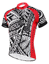 cheap -ILPALADINO Men's Short Sleeve Cycling Jersey - Black / Red Bike Jersey, Quick Dry, Ultraviolet Resistant, Breathable Polyester