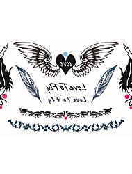 povoljno -Tetovaže naljepnice Others Crtani film Žene Muškarci Odrasla osoba Boy Flash Tattoo Privremene tetovaže