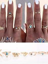 Women's Statement Rings Knuckle Ring Love Personalized Punk Costume Jewelry Alloy Cross Animal Shape Triangle Shape Anchor Jewelry For
