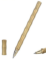 cheap -FURA Outdoor Bamboo Shaped Frosted Surface Tactical Brass Black Ink Pen - Golden