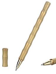 fura ottone tattico penna a inchiostro nero superficie satinata forma di bambù esterno - oro