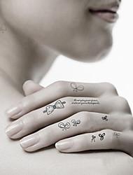 Séries Animal-CJC-Tatuagem Adesiva-Non Toxic / Estampado / Waterproof- paraFeminino / Masculino / Adulto / Adolescente- dePapel-