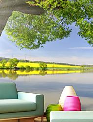 cheap -JAMMORY Large Mural 3D Stereo Landscape Tree Lake Wallpaper TV Background WallpaperTV Sofa XL XXL XXXL