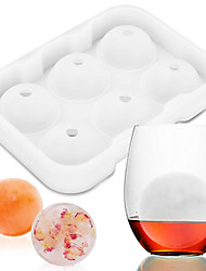 cheap -6 Molds Prepare Ice Ball Sphere-Molds-Cube Tray Bricks Tray Maker Whiskey Cooktail