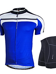 cheap -Nuckily Cycling Jersey with Shorts Men's Short Sleeves Bike Clothing Suits Windproof Anatomic Design Moisture Permeability Front Zipper