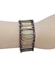 Vintage Style Glaze Square Metal Plate Alloy Bracelet