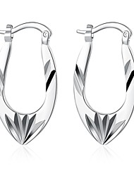 cheap -lureme®Fashion Style 925 Sterling Silver Irregular Hollow Shaped Hoop Earrings