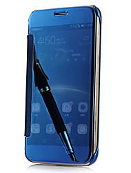 preiswerte -Für Samsung Galaxy S7 Edge Beschichtung / Spiegel / Flipbare Hülle / Transparent Hülle Rückseitenabdeckung Hülle Einheitliche Farbe PC