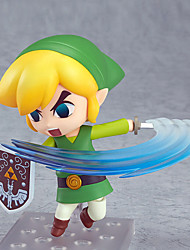 cheap -The Legend of Zelda Movable Link PVC 10CM Anime Action Figures Lovely Doll Toys Model