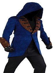 cheap -Cosplay Costumes More Costumes Movie Cosplay Black / Blue Patchwork Coat / Hat Halloween / Christmas / New Year Male