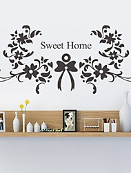 cheap -Sweet Home Wall Stickers  Vinyl Wall Decals Bedroom Living Room Wallpaper Wedding Decorations
