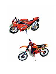3D-puslespil Pædagogisk legetøj Puslespil Papirmodel Legetøjsbiler Motorcykel Legetøj Motorcykel 3D Stk.
