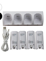 economico -WII Audio e video Caricabatterie / Batterie Per Wii U / Wii ,  Mini Caricabatterie / Batterie Metallo / ABS 1 pcs unità