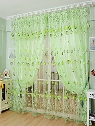 Rod Pocket One Panel Curtain Country Living Room Polyester Material Sheer Curtains Shades Home Decoration For Window