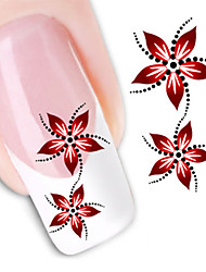 cheap -1Pc 3D Nail Stickers Nail Stamping Template Daily Flower Fashion High Quality