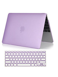 "cheap -Case for Macbook Air 11.6""/13.3"" Solid Color Plastic Material 2 in 1 Crystal Clear Soft-Touch Full Body Case with Keyboard Cover"