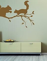 Tiere / Romantik / Mode / Abstrakt / Fantasie Wand-Sticker Flugzeug-Wand Sticker,PVC M:42*63cm/ L:55*82cm