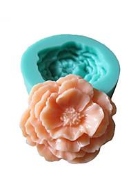 3D цветы пиона Силиконовые Mold Фондант Пресс-формы Сахар Ремесло Инструменты Шоколад Плесень на торты