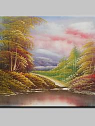 Peint à la main Abstrait Célèbre Paysage Loisir Format Horizontal,Moderne Un Panneau Toile Peinture à l'huile Hang-peint For Décoration