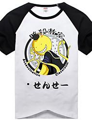 Вдохновлен Покушение класс Korosensei Аниме Косплэй костюмы Косплей футболка С принтом Пэчворк С короткими рукавами Футболка Назначение