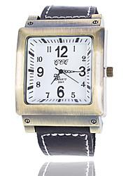 Xu™ Pánské Náramkové hodinky Křemenný PU Kapela Černá Bílá Černá