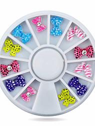 1wheel bow tie nail decoration wheel-Gioielli per unghie-Adorabile-Dito / Dito del piede- diAcrilico-6cm wheel