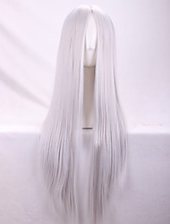 Europe And The United States New Silver Ms Points in  Long Straight Hair Wig