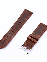 preiswerte -Kaffee braun Jahrgang echtes Leder-Uhrenarmband retro Ersatzarmband für s2 klassische Samsung Getriebe